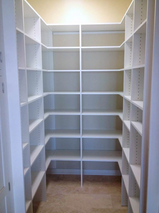 Keep your pantry organized and clean with Affordable Closets.
